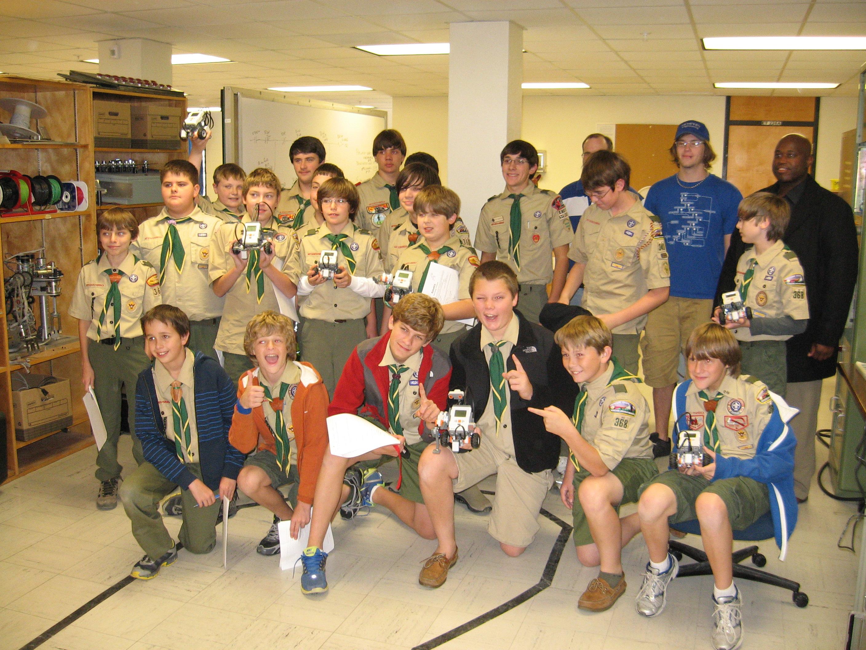 Dan Kohn S Blog Memphis Boy Scouts Take Robotics Merit Badge